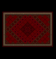Oriental carpet with colored ornament on border vector image