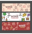 Art Wine Banners and Labels Set vector image