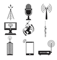 collection communication information transmitter vector image