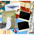 Sailor scrapbook design vector image