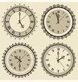 vintage clock set vector image vector image