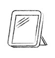 monochrome blurred silhouette of photo frame vector image