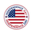 independence day round banner vector image