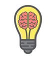 business idea colorful line icon creativity vector image