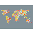 World map design with abstract pattern vector image