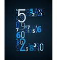 Letter E font from numbers vector image