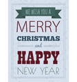 Christmas card with typography design vector image