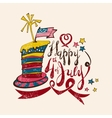 July 4th Cartoon Lettering in linocut style vector image
