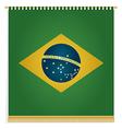 brazil flag banner vector image vector image