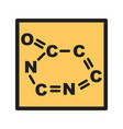 chemical formula vector image