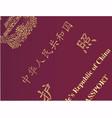 chinese passport closeup vector image
