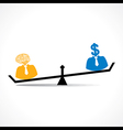 Comparison between men having idea and money stock vector image