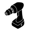 Cordless drill icon simple style vector image