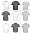 Polo shirts and t-shirts vector image