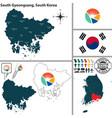 south gyeongsang province south korea vector image