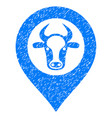 cow map marker icon grunge watermark vector image