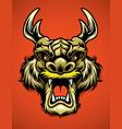 asian dragon head vector image