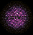 futuristic abstract background with violet mosaic vector image