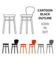 Bar stool icon in cartoon style isolated on white vector image