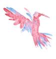 Watercolor-style of bird vector image