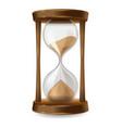 sand hourglass vector image vector image
