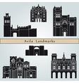 Avila landmarks and monuments vector image vector image