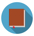 Flat design modern of bookicon with long shadow vector image