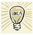 lightbulb concept imagination vector image vector image