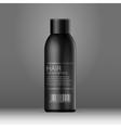Black Cosmetics bottle can Deodorant vector image vector image