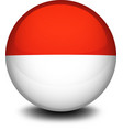 A ball with the flag of Indonesia and Monaco vector image