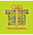Christmas gift boxes made from icon vector image
