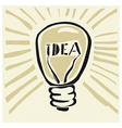 lightbulb concept imagination vector image