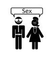 love relationship sex vector image