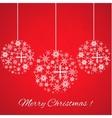 Merry christmas background with snowflakes vector image