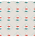 seamless pattern with sailboats vector image