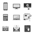 set of icons and symbols in trendy flat style vector image