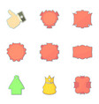 shop tags icons set cartoon style vector image