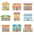 Commercial Buildings Facade Design Set Of Stickers vector image