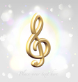 Festive treble clef awards vector