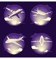 Airplane set in flat design vector image
