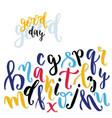 Calligraphic alphabet hand written expresive vector image