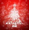 Vintage christmas greeting card icons and symbols vector image
