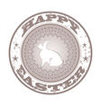 Easter grunge stamp with bunny vector image