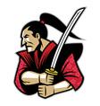 samurai warrior vector image vector image