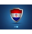 Croatia shield on the blue background vector image