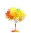autumn abstract tree forming by circles and blots vector image