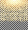 Gold glow glitter sparkles on transparent vector image
