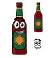 Happy beer pint cartoon vector image