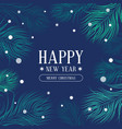 new year and christmas banner with fir vector image