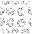 pig head hand draw doodles vector image